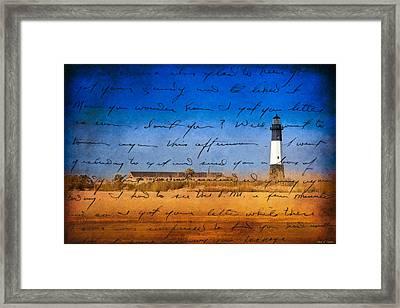 Tybee Island Lighthouse - A Sentimental Journey Framed Print by Mark E Tisdale