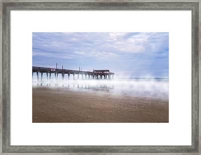 Tybee Island Pier Framed Print by Mark E Tisdale