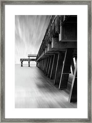 Tybee Island Pier Framed Print by Mike McGlothlen