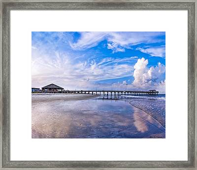 Tybee Island Pier On A Beautiful Afternoon Framed Print by Mark E Tisdale
