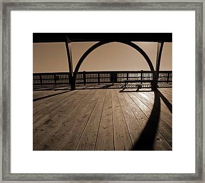 Tybee Island Pier Framed Print by Steven  Michael