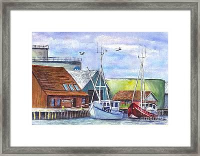 Tyboron Harbour In Denmark Framed Print by Carol Wisniewski