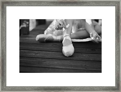 joy's soul lies in the doing Bw Framed Print by Laura Fasulo