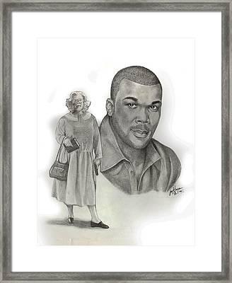 Tyler As Madea Framed Print by Joyce Hayes