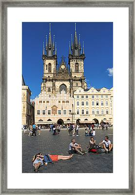 Tyn Church In Prague Czech Republic Europe Framed Print by Matthias Hauser