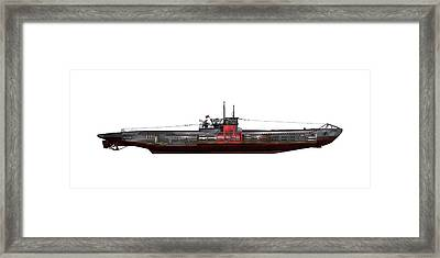 Type Viic42 U-boat, Artwork Framed Print by Science Photo Library