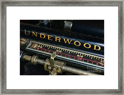 Typewriter Paper Guide Framed Print by Paul Ward