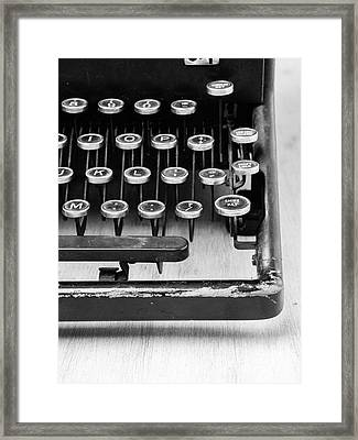 Typewriter Triptych Part 3 Framed Print by Edward Fielding