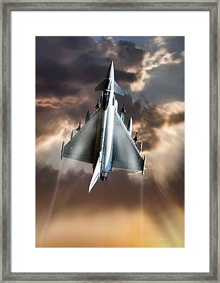 Typhoon Rising Framed Print by Peter Chilelli