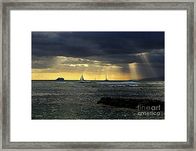 Typical Hawaiian Evening Framed Print by Cheryl Young