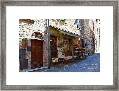 Typical Small Shop In Tuscany Framed Print by Ramona Matei