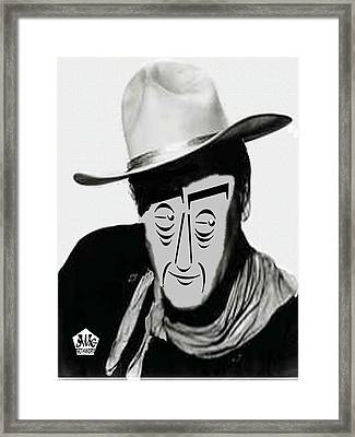 Typortraiture John Wayne Framed Print by Seth Weaver