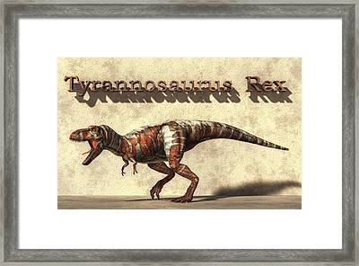Tyrannosaurus Framed Print by Daniel Eskridge