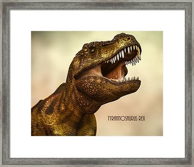 Tyrannosaurus Rex 3 Framed Print by Bob Orsillo
