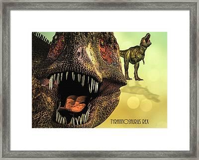 Tyrannosaurus Rex 4 Framed Print by Bob Orsillo
