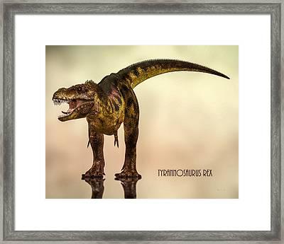 Tyrannosaurus Rex Dinosaur  Framed Print by Bob Orsillo