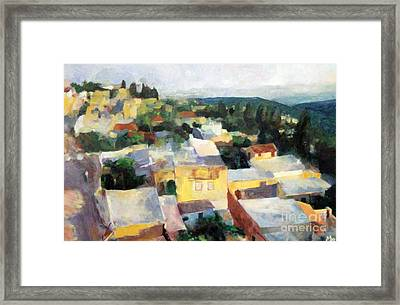 Tzfat Framed Print by David Baruch Wolk