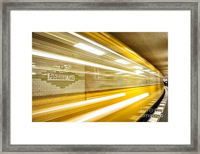 U-bahn Berlin 4 Framed Print by Casper Wilkens