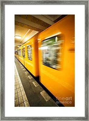 U-bahn Berlin 5 Framed Print by Casper Wilkens