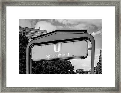 U-bahn Framed Print by Chris Smith