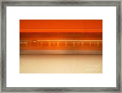 U-motion Framed Print by Hannes Cmarits