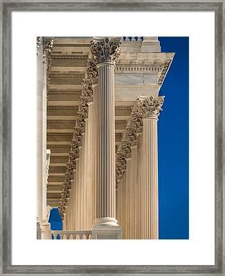 U S Capitol Columns Framed Print by Steve Gadomski