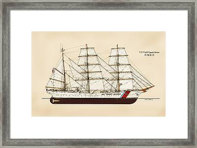 U. S. Coast Guard Cutter Eagle - Color Framed Print by Jerry McElroy - Public Domain Image