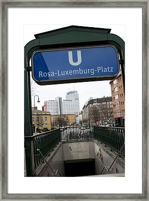Ubahn Framed Print by Adrien E