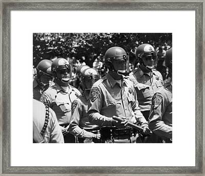 Uc Police Ready Framed Print by Underwood Archives Thornton