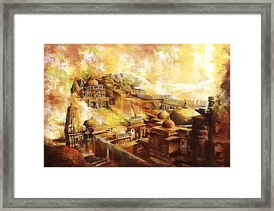 Udaipur Kambalgarh Fort Framed Print by Catf