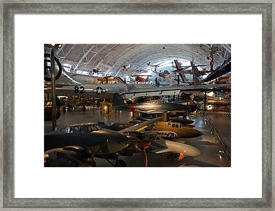 Udvar-hazy Center - Smithsonian National Air And Space Museum Annex - 1212109 Framed Print by DC Photographer