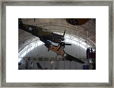 Udvar-hazy Center - Smithsonian National Air And Space Museum Annex - 121293 Framed Print by DC Photographer