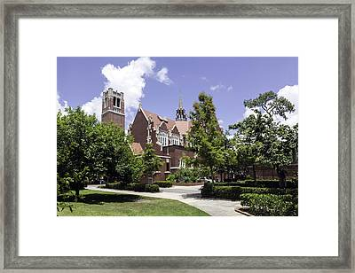 Uf University Auditorium And Century Tower Framed Print by Lynn Palmer
