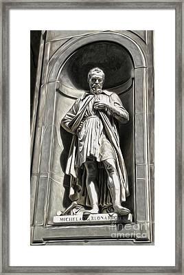 Uffizi Gallery - Michelangelo Buonarroti Framed Print by Gregory Dyer