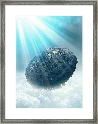 Ufo In The Cloud Framed Print by Victor Habbick Visions