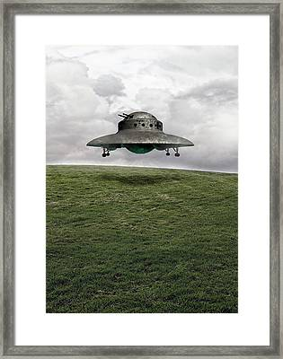 Ufo Framed Print by Victor Habbick Visions