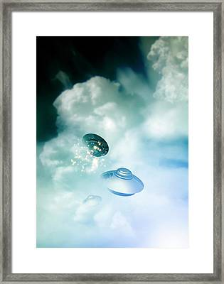 Ufos In The Cloud Framed Print by Victor Habbick Visions