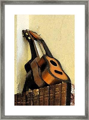 Ukes Framed Print by Everett Bowers