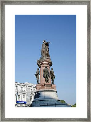 Ukraine, Odessa Downtown Odessa, Statue Framed Print by Cindy Miller Hopkins
