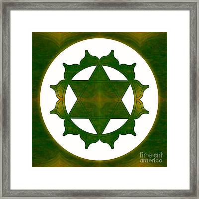 Ultimate Tranquility Abstract Chakra Art By Omaste Witkowski Framed Print by Omaste Witkowski