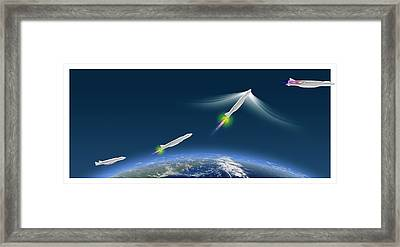 Ultra-rapid Air Vehicle Framed Print by Claus Lunau