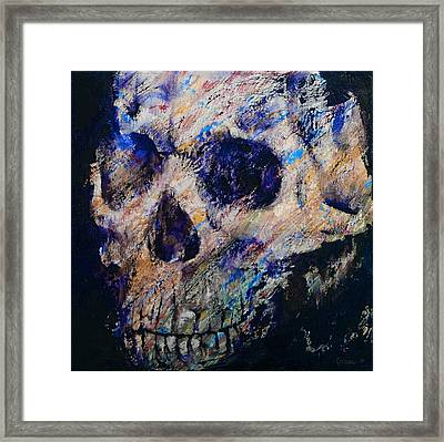 Ultraviolet Skull Framed Print by Michael Creese