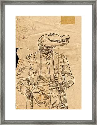 General Alligator Framed Print by H James Hoff