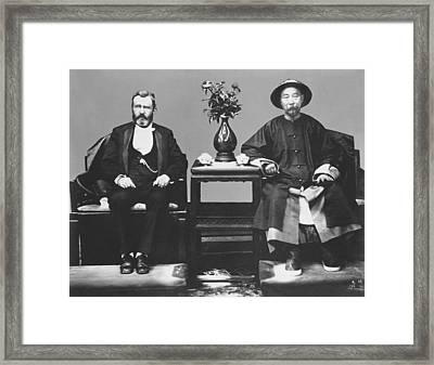 Ulysses S. Grant Visits China Framed Print by Underwood Archives