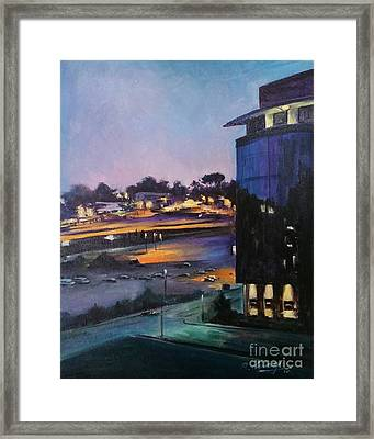 Umass Research Building Framed Print by Rose Wang