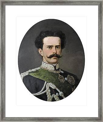 Umberto I Of Italy 1844-1900. King Framed Print by Everett