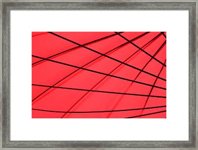 Red And Black Abstract Framed Print by Tony Grider