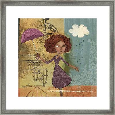 Umbrella Girl Framed Print by Karyn Lewis Bonfiglio
