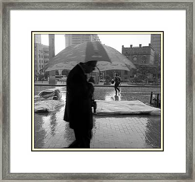 Umbrella Man Framed Print by Daniel Gomez