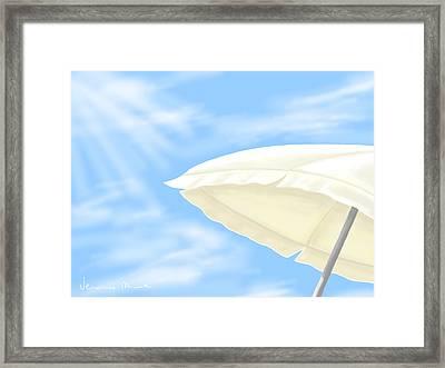 Umbrella Framed Print by Veronica Minozzi